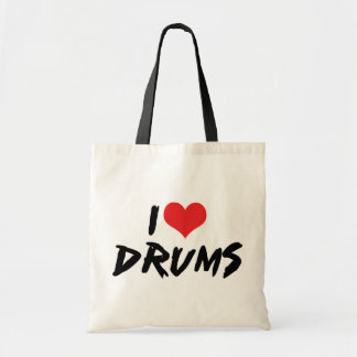 私はドラムを愛します トートバッグ