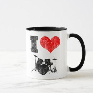 私はドラムを愛します マグカップ