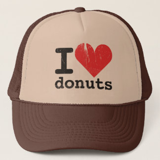 私はドーナツのトラック運転手の帽子を愛します キャップ