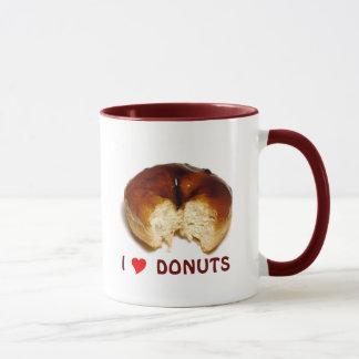 私はドーナツを愛します マグカップ