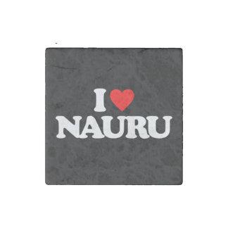 私はナウルを愛します ストーンマグネット