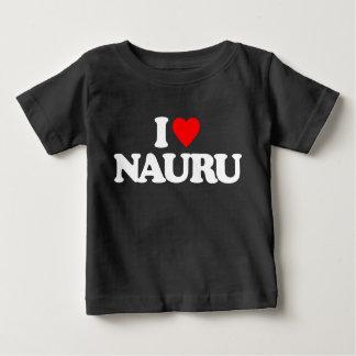 私はナウルを愛します ベビーTシャツ