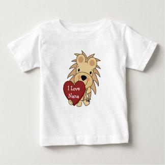 私はナナのお洒落なライオンのバレンタインを愛します ベビーTシャツ