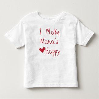 私はナナのハートに幸せなTシャツをします(赤い) トドラーTシャツ