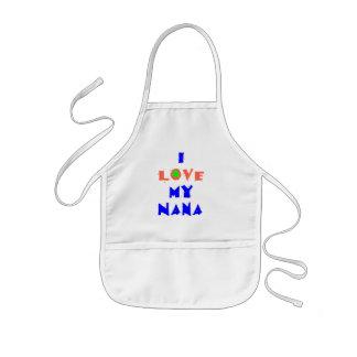 私はナナの私のエプロンを愛します 子供用エプロン