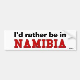 私はナミビアにむしろいます バンパーステッカー