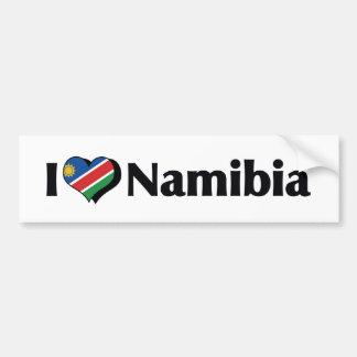 私はナミビアの旗を愛します バンパーステッカー
