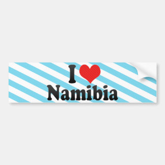 私はナミビアを愛します バンパーステッカー