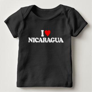 私はニカラグアを愛します ベビーTシャツ