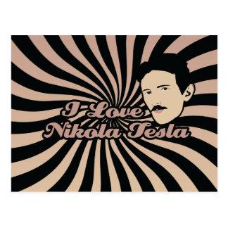 私はニコラ・テスラを愛します ポストカード