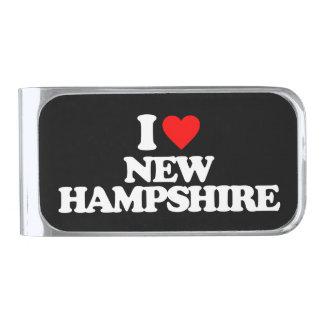 私はニューハンプシャーを愛します シルバー マネークリップ