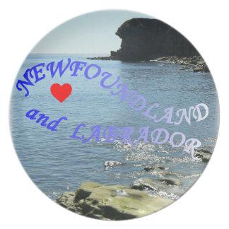 私はニューファウンドランドおよびラブラドールを愛します プレート