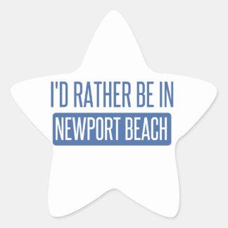 私はニューポートビーチにむしろいます 星シール