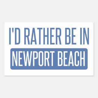 私はニューポートビーチにむしろいます 長方形シール
