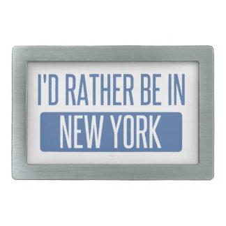 私はニューヨークにむしろいます 長方形ベルトバックル