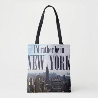 """""""私はニューヨークに""""のバッグむしろいます トートバッグ"""