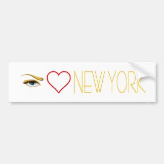 私はニューヨークを愛します バンパーステッカー