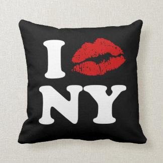 私はニューヨーク|の赤い口紅のキスをするな唇をxxx愛します クッション