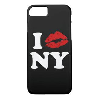 私はニューヨーク|の赤い口紅のキスをするな唇をxxx愛します iPhone 8/7ケース