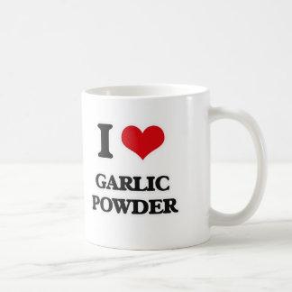 私はニンニクの粉を愛します コーヒーマグカップ