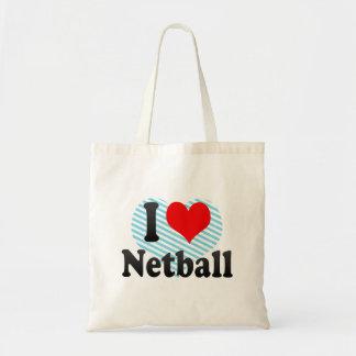 私はネットボールを愛します トートバッグ