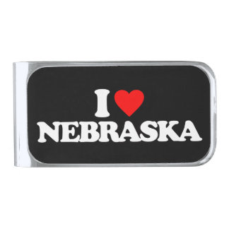 私はネブラスカを愛します シルバー マネークリップ