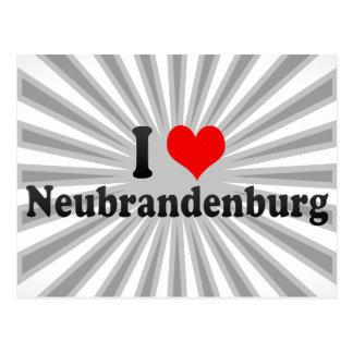 私はノイブランデンブルク、ドイツを愛します ポストカード
