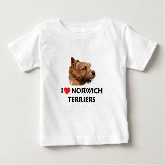 私はノリッジテリアを愛します ベビーTシャツ