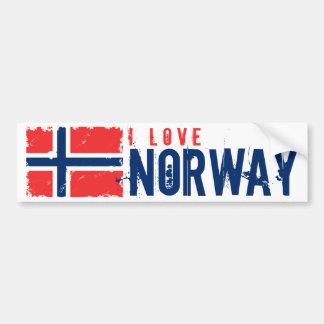 私はノルウェーの旗を愛します バンパーステッカー