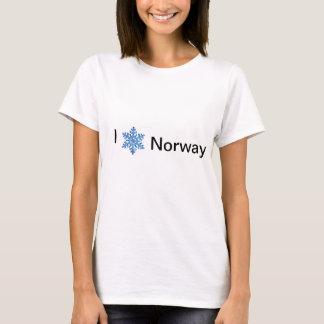 私はノルウェーのTシャツを愛します Tシャツ