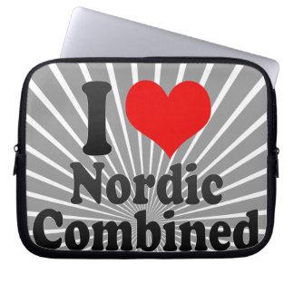 私はノルディック複合競技愛します ラップトップスリーブ