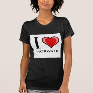 私はノーウォークを愛します Tシャツ