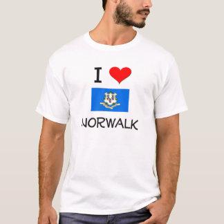 私はノーウォークコネチカットを愛します Tシャツ