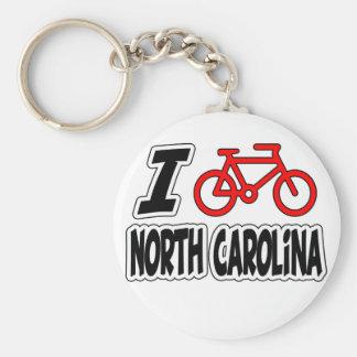 私はノースカロライナを循環させることを愛します キーホルダー