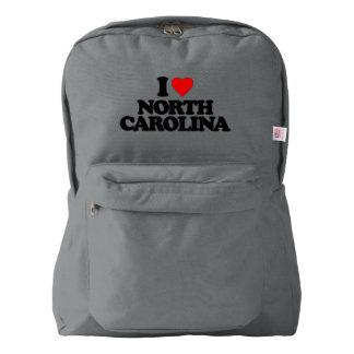 私はノースカロライナを愛します AMERICAN APPAREL™バックパック