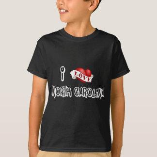 私はノースカロライナを愛します Tシャツ