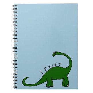 私はノートBrontosaurusの恐竜の存在しています ノートブック