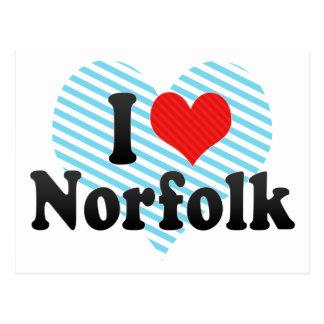 私はノーフォークを愛します ポストカード