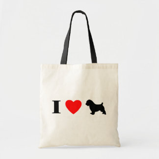 私はノーフォークテリアのバッグを愛します トートバッグ
