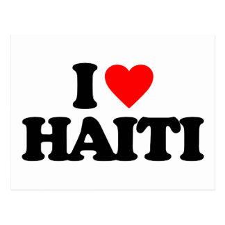 私はハイチを愛します ポストカード