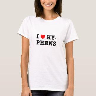 私はハイフンを愛します Tシャツ