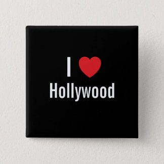 私はハリウッドを愛します 5.1CM 正方形バッジ