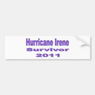 私はハリケーンのアイリーンのバンパーステッカーを生き延びました バンパーステッカー