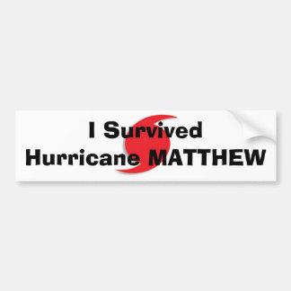 私はハリケーンMATTHEWを生き延びました バンパーステッカー