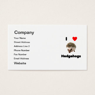 私はハリネズミを愛します 名刺
