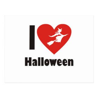 私はハロウィンを愛します ポストカード
