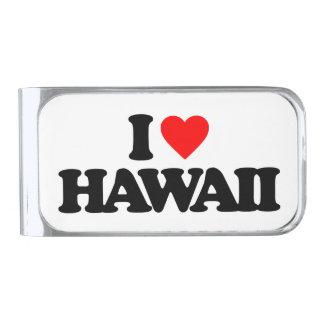 私はハワイを愛します シルバー マネークリップ