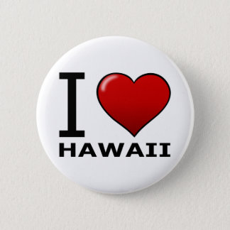 私はハワイを愛します 5.7CM 丸型バッジ