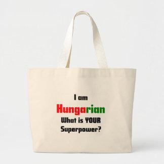 私はハンガリー語です ラージトートバッグ
