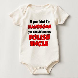 私はハンサムなポーランドの叔父さんです ベビーボディスーツ